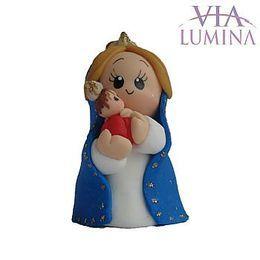 Imagem de Nossa Senhora do Bom Parto em Biscuit de 7,5cm