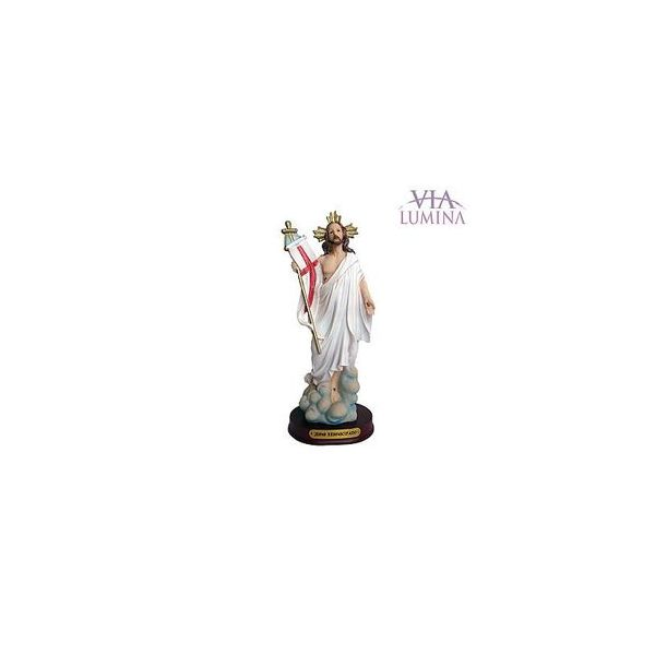 Imagem de Jesus Ressuscitado em Resina de 20cm