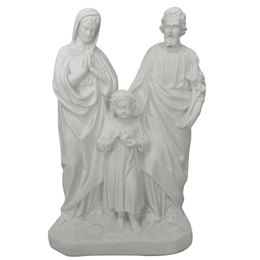 Sagrada Família - Gesso Branco - 42cm