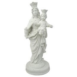 Nossa Senhora Auxiliadora - Gesso Branco - 25cm