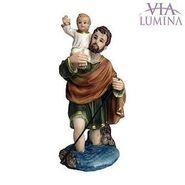 Imagem de São Cristóvão em Resina de 12cm
