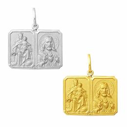 Medalha em Ouro - Escapulário - Jesus e Carmo