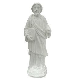 São Judas Tadeu - Gesso Branco - 20cm