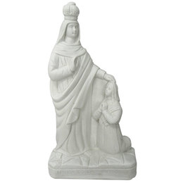 Nossa Senhora Caravaggio - Gesso Branco - 28cm