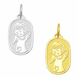 Pingente em Ouro - Chapinha com Anjo da Guarda