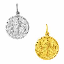Medalha em Ouro Trabalhada Nossa Senhora Desatadora dos Nós