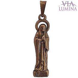 Medalha de Nossa Senhora de Lourdes - Ouro Velho - 3cm