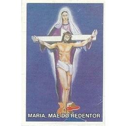 Maria, Mãe do Redentor - Pacote c/ 100 Santinhos de Papel