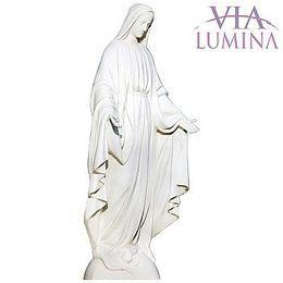 Imagem Nossa Senhora das Graças Branca - Resina e Pó de Mármore - 130cm