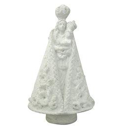 Nossa Senhora de Nazaré Manto Trabalhado - Gesso Branco - 14cm