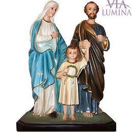 Imagem Sagrada Familia c/ olhos de vidro - Resina - 55cm