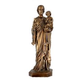Imagem São José - Resina - Estilo Bronze - 105cm