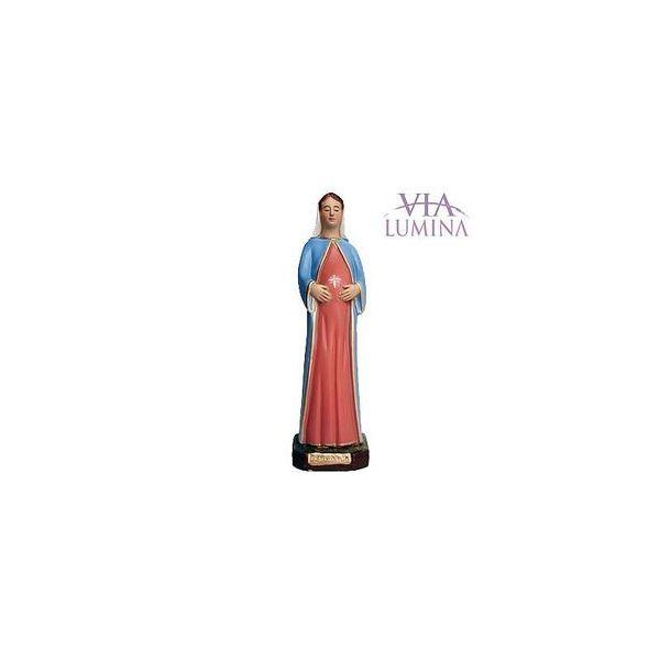 Nossa Senhora Grávida - Gesso - 21cm