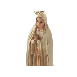 Imagem de N. Sra. de Fátima Envelhecida com Olhos de Vidro de 27cm - Importada de Portugal