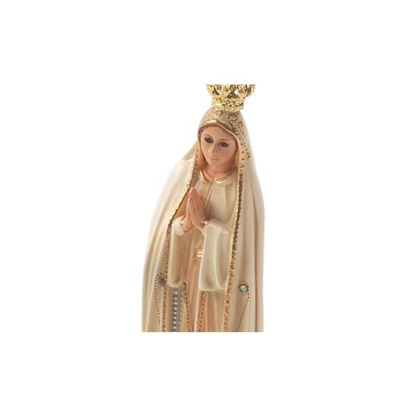 Imagem de N. Sra. de Fátima Envelhecida com Olhos de Vidro de 21cm - Importada de Portugal