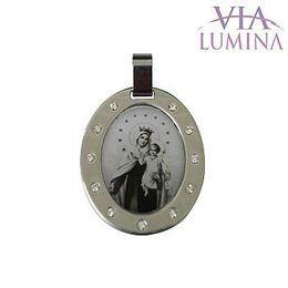 Medalha em Aço Inox - Nossa Senhora do Carmo - 30mm