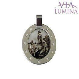 Medalha em Aço Inox - Nossa Senhora de Fátima - 30mm