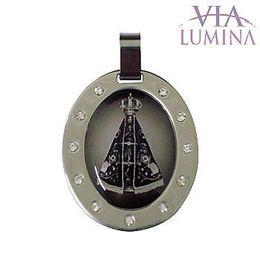 Medalha em Aço Inox - Nossa Senhora Aparecida - 37mm
