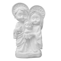 Sagrada Família Criança - Gesso Branco