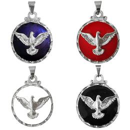 Medalha do Divino Espírito Santo Prateado - 2,5cm