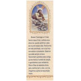 Marca Página Jesus Carrega a Cruz - Laranja