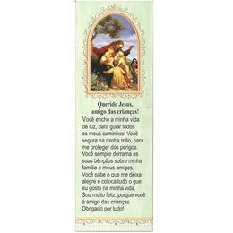 Marca Página Querido Jesus, amigo das Crianças - Verde Escuro
