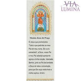 Marca Página do Menino Jesus de Praga