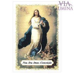Nossa Senhora Imaculada Conceição - Pacote c/ 100 Santinhos de Papel
