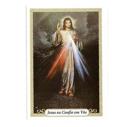 Jesus Misericordioso - Oração - Pacote c/ 100 Santinhos de Papel