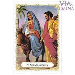Nossa Senhora do Desterro - Pacote c/ 100 Santinhos de Papel