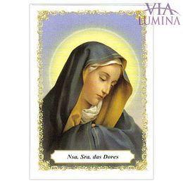 Nossa Senhora das Dores - Pacote c/ 100 Santinhos de Papel