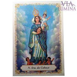 Nossa Senhora das Cabeças - Pacote c/ 100 Santinhos de Papel
