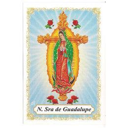 Nossa Senhora de Guadalupe - Pacote c/ 100 Santinhos de Papel