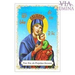 Nossa Senhora do Perpétuo Socorro - Pacote c/ 100 Santinhos de Papel