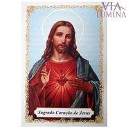 Sagrado Coração de Jesus - Pacote c/ 100 Santinhos de Papel