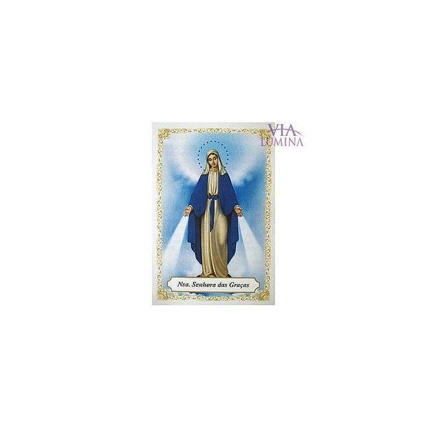 Nossa Senhora das Graças - Pacote c/ 100 Santinhos de Papel
