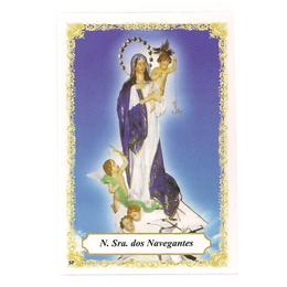 Nossa Senhora dos Navegantes - Pacote c/ 100 Santinhos de Papel