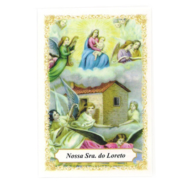Nossa Senhora do Loreto - Pacote c/ 100 Santinhos de Papel