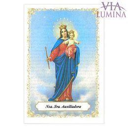 Nossa Senhora Auxiliadora - Pacote c/ 100 Santinhos de Papel