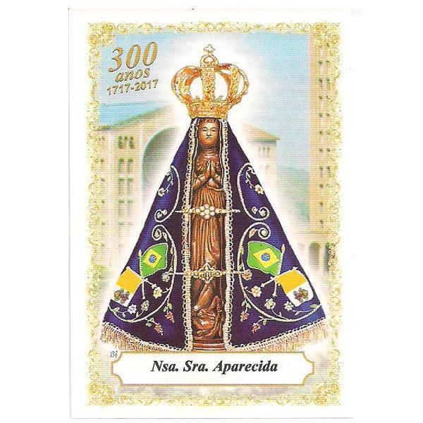 Nossa Senhora Aparecida - Basilica - 300 anos de Jubileu - Pacote c/100 Santinhos de Papel