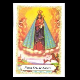 Nossa Senhora de Nazaré - Pacote c/ 100 Santinhos de Papel