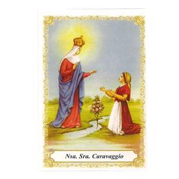 Nossa Senhora do Caravaggio - Pacote c/ 100 Santinhos de Papel