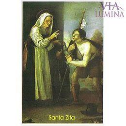 Santa Zita - Pacote c/ 100 Santinhos de Papel