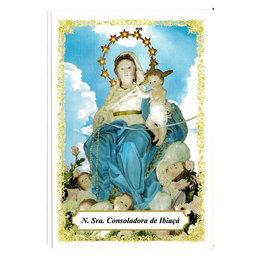 Nossa Senhora Consoladora de Ibiaçá - Pacote c/ 100 Santinhos de Papel