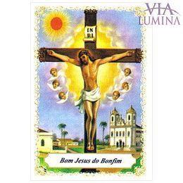 Bom Jesus do Bonfim - Pacote c/ 100 Santinhos de Papel