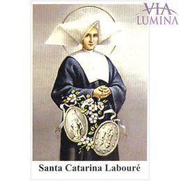 Santa Catarina Labouré - Pacote c/ 100 Santinhos de Papel