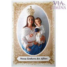 Nossa Senhora dos Aflitos - Pacote c/ 100 Santinhos de Papel