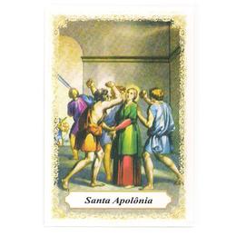 Santa Apolônia - Pacote c/ 100 Santinhos de Papel