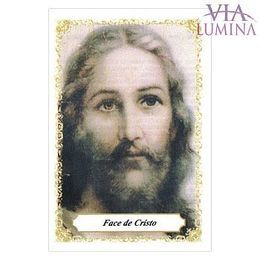 Face de Cristo - Pacote c/ 100 Santinhos de Papel