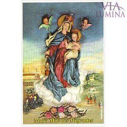 Maria Mãe dos Migrantes - Pacote c/ 100 Santinhos de Papel